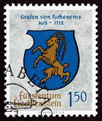 Postage Stamp Liechtenstein 1964 Arms Of Counts Of Hohenems