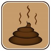picture of turds  - Shit icon on white background  - JPG