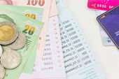picture of passbook  - Thai money bath and Saving Account Passbook - JPG