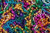 Background Of Mardi Gras Beads