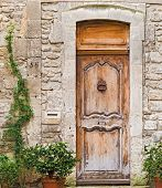 foto of avignon  - Old entrance doors to a house in old medieval part of Avignon France - JPG