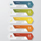 image of web template  - Design clean number banners template - JPG