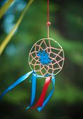 pic of dreamcatcher  - Beautiful handmade dreamcatcher in the forest outdoor