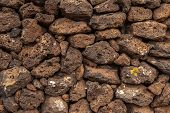 pic of pumice-stone  - Background image of volcanic lava stone wall - JPG