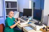 foto of radiation therapy  - Radiation therapy control room - JPG