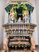 stock photo of chariot  - A chariot for the temple deity in Melkote, South India.