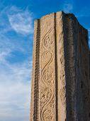 image of karnataka  - A broken temple column in Melkote, Karnataka jutting into the sky. ** Note: Soft Focus at 100%, best at smaller sizes - JPG