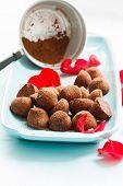 foto of truffle  - chocolate truffles - JPG