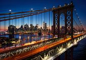 picture of brooklyn bridge  - New York City  - JPG