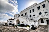 stock photo of trade  - Cape Coast Castle is a fortification in Ghana built by Swedish traders for trade in timber and gold - JPG