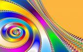 image of mandelbrot  - Digital visualization of a colourful fractal called Mandelbrot set - JPG