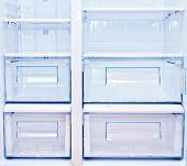 foto of refrigerator  - blank white refrigerator - JPG