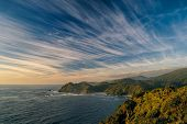 picture of windswept  - Panoramic view of the Chilean coast in Parque Nacional Chiloe - JPG