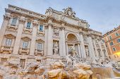 Постер, плакат: Trevi Fountain The Baroque Fountain In Rome Italy