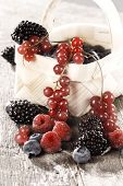 picture of berries  - berries on a wooden table - JPG