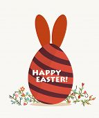stock photo of easter card  - Happy easter cards with easter egg - JPG