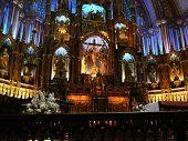 image of crucifiction  - The basilica of Notre-Dame de Montr�al  - JPG