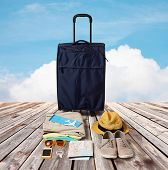 stock photo of blue things  - summer vacation - JPG