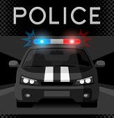 picture of flashing  - Police car with flash light - JPG