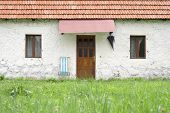stock photo of household farm  - facade country houses in Montenegro - JPG