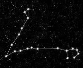 image of pisces  - constellation Pisces against the starry sky - JPG