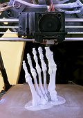 picture of thermoplastics  - 3D Printing Model of Human Foot Bones - JPG