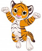 pic of cute tiger  - Illustration of very cute tiger - JPG