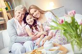 picture of grandma  - Portrait of happy grandma - JPG