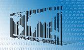 stock photo of barcode  - World Binary Barcode - JPG
