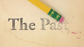 pic of yesteryear  - Close up of a yellow pencil erasing the words  - JPG