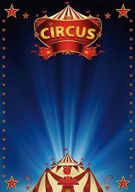 foto of circus tent  - Magic blue circus - JPG