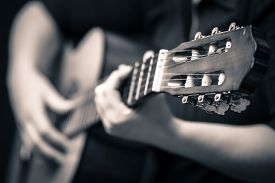 stock photo of classic art  - Classic guitar  - JPG
