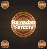 pic of arabic calligraphy  - Calligraphy of Arabic text of Ramadan Kareem for the celebration of Muslim community festival - JPG