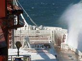 picture of freeze  - freezing ice vessel may lead to the collapse and destruction of the vessel - JPG