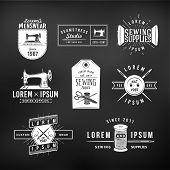pic of tailoring  - Set of vintage tailor labels - JPG