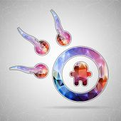 image of ovulation  - Abstract Creative concept vector icon of spermatozoons - JPG