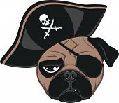 stock photo of pug  - Vector illustration - JPG