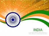 picture of indian independence day  - Indian Independence Day background with  wheel flag democracy - JPG