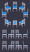 pic of dark side  - Set of the isometric white chairs - JPG