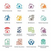 pic of landslide  - This set contains 16 home insurance icons that can be used for designing and developing websites - JPG