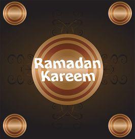 stock photo of ramadan calligraphy  - Calligraphy of Arabic text of Ramadan Kareem for the celebration of Muslim community festival - JPG