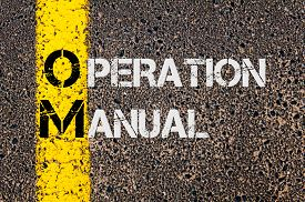 picture of om  - Concept image of Business Acronym OM as Operation Manual written over road marking yellow painted line - JPG