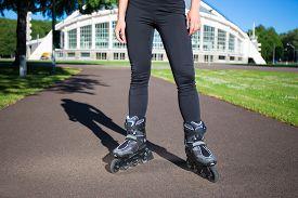 stock photo of inline skating  - Inline skates  - JPG