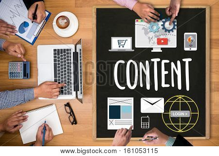 poster of Content Marketing, Online Concept , Content Data Blogging Media Publication Content Marketing , Cont
