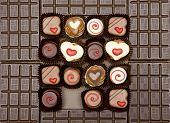Постер, плакат: Шоколад с шоколадной конфеты