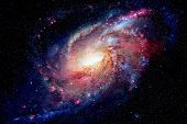 Spiral Galaxy And Nebula. Elements Of This Image Furnished By Nasa poster