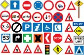 stock photo of truck-stop  - road signs in vector format - JPG