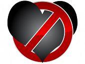 Постер, плакат: растровое изображение векторных запрещено любви