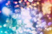 Abstract Circular Bokeh Background Of Christmaslight poster