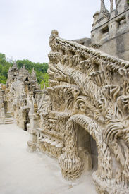picture of cheval  - detail of Palais Ideal du Facteur Cheval - JPG